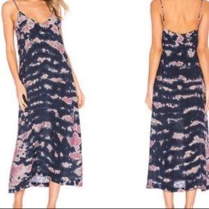 LACAUSA Small Tie Dye Shrub Wash Alma Midi Dress